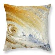 Sandy Wave Crashing Throw Pillow