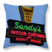 Sandys Frozen Custard - Austin Throw Pillow