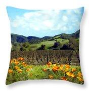 Sanford Ranch Vineyards Throw Pillow by Kurt Van Wagner