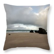 Sango Beach, Durness Throw Pillow