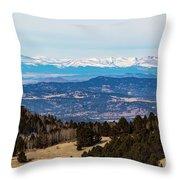 Sangre De Cristo Mountain Valley Throw Pillow