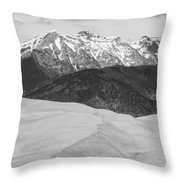 Sangre De Cristo Mountains And The Great Sand Dunes Bw V Throw Pillow by James BO  Insogna