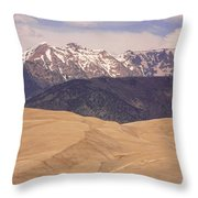 Sangre De Cristo Mountains And The Great Sand Dunes Throw Pillow