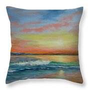 Sangria Beach Throw Pillow