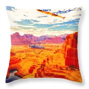 Sangry Valley Throw Pillow