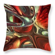 Sanguine Abstract Throw Pillow