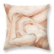 Sanguine Nude Throw Pillow