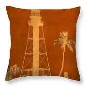 Sanibel Island Lighthouse Throw Pillow