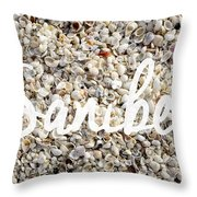 Sanibel Island Seashells Throw Pillow