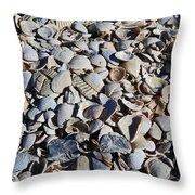 Sanibel Island Seashells I Throw Pillow
