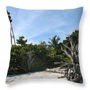 Sanibel Light And Driftwood Throw Pillow