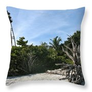 Sanibel Light And Driftwood Throw Pillow