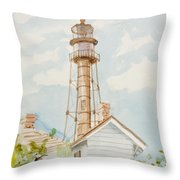 Sanibel Lighthouse 2 Throw Pillow