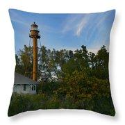 Sanibel Lighthouse Throw Pillow