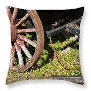 Sanibel Village Wagon Wheels Throw Pillow