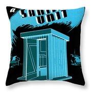 Sanitary Unit Fap Poster Throw Pillow