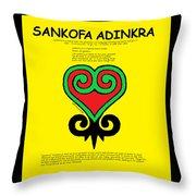 Sankofa Adinkra Throw Pillow
