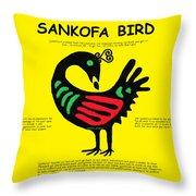 Sankofa Bird Of Knowledge Throw Pillow