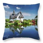 Sanphet Prasat Palace, Thailand Throw Pillow