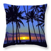 Sans Souci Sunset Waikiki Throw Pillow