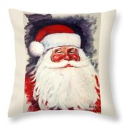 Santa 1 Throw Pillow