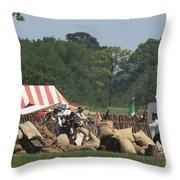 Santa Anna's Camp Throw Pillow