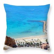 Santa Barbara Castle Throw Pillow