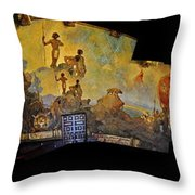 Santa Barbara Hall Of Murals Throw Pillow