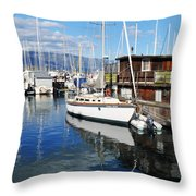 Santa Barbara Harbor Throw Pillow