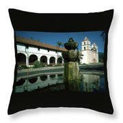 Santa Barbara Mission Throw Pillow
