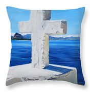 Santa Catarina's Cross Throw Pillow