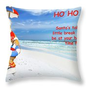 Santa Christmas Greeting Card Throw Pillow