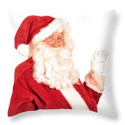 Santa Claus Waving Hand Throw Pillow