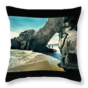 Santa Cruz Beach Arch Throw Pillow