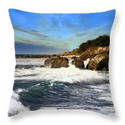 Santa Cruz Coastline Throw Pillow