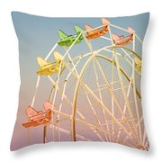 Santa Cruz Ferris Wheel Throw Pillow