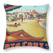 Santa Cruz For Youz Throw Pillow by Bob Christopher