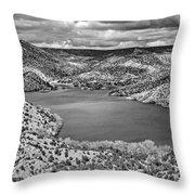 Santa Cruz Lake, New Mexico, April 18, 2016 Throw Pillow