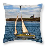 Santa Cruz Mark Abbott Memorial Lighthouse Ca  Throw Pillow by Christine Till