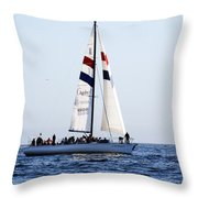 Santa Cruz Sailing Throw Pillow