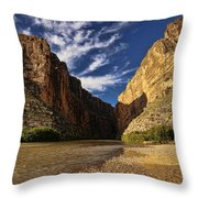 Santa Elena Canyon 1 Throw Pillow