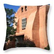Santa Fe - Adobe Church Throw Pillow