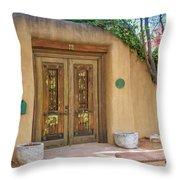 Santa Fe Adobe Front Throw Pillow