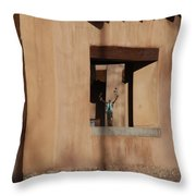 Santa Fe Adobe Window Throw Pillow