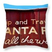 Santa Fe All The Way Throw Pillow