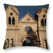 Santa Fe Church Throw Pillow