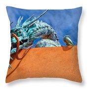 Santa Fe Dragon Throw Pillow
