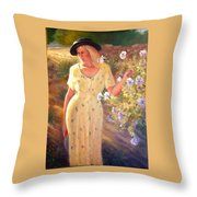 Santa Fe Garden 3   Throw Pillow