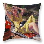 Santa Fe Garden 4 Throw Pillow