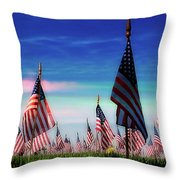 Santa Fe Naional Memorial Cemetery Throw Pillow